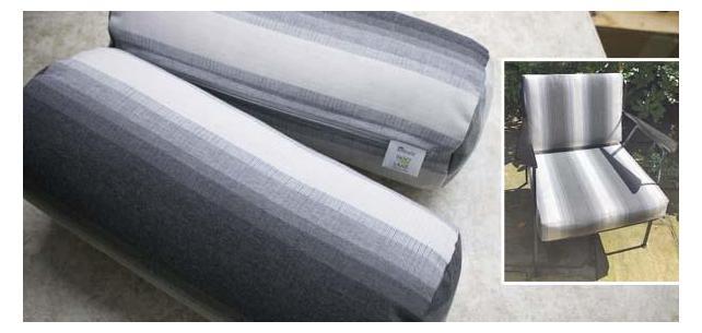 Sunbrella Colonnade Stone Chair Cushions and Bolsters Revive Patio Set