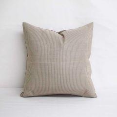 Indoor/Outdoor Sunbrella Rib Taupe / Antique Beige - 18x18 Throw Pillow (quick ship)