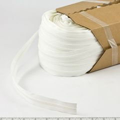 YKK Vislon #5 Chain 5VS 9/16 inch Tape White 218-yd, Full Rolls Only