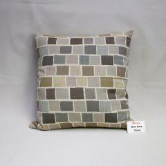 Indoor/Outdoor Sunbrella Blox Slate - 18x18 Throw Pillow (quick ship)