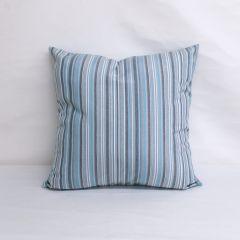 Indoor/Outdoor Sunbrella Canvas Porto Blue Chine - 20x20 Throw Pillow (quick ship)