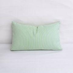 Indoor/Outdoor Duralee Sunbrella Spring Green (Light Side) - 20x12 Vertical Stripes Throw Pillow (quick ship)