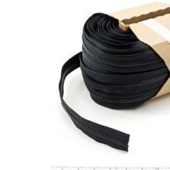YKK Vislon Chain 10VF 11/16 inch Tape Black 109-yd, Full Rolls Only