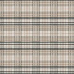 S Harris Sunbrella Romy Plaid Taupe 89370 Solstice Outdoor Collection Multipurpose Fabric