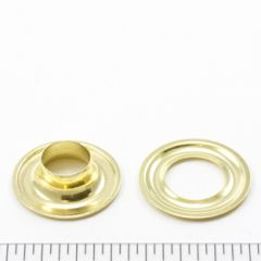 Dot Grommet with Plain Washer #2 Brass 3/8 inch 1-gross (144)
