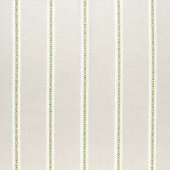 Sunbrella Thibaut Saybrook Stripe Green and Flax W80795 Solstice Collection Upholstery Fabric