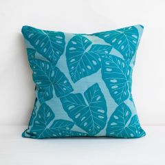 Indoor/Outdoor Sunbrella Radiant Lagoon - 24x24 Throw Pillow (quick ship)
