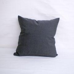 Indoor/Outdoor Sunbrella Canvas Coal - 20x20 Throw Pillow (quick ship)