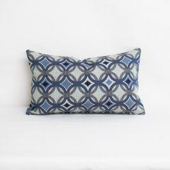 Indoor/Outdoor Sunbrella by CF Stinson Salinas Blue Lagoon - 20x12 Throw Pillow (quick ship)