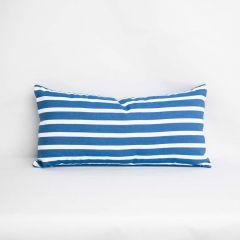 Indoor/Outdoor Sunbrella Shore Regatta - 24x12 Horizontal Stripes Throw Pillow (quick ship)