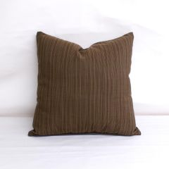 Indoor/Outdoor Sunbrella Dupione Walnut - 18x18 Throw Pillow (quick ship)