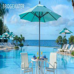 Fiberbuilt 7.5ft Square Bridgewater Umbrella With Sunbrella Fabric