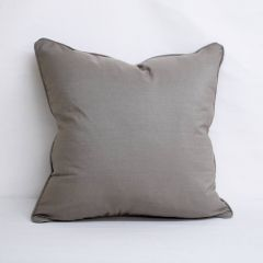 Indoor/Outdoor Sunbrella Canvas Taupe - 22x22 Throw Pillow with Welt (quick ship)