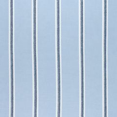 Sunbrella Thibaut Saybrook Stripe Navy and Blue W80787 Solstice Collection Upholstery Fabric