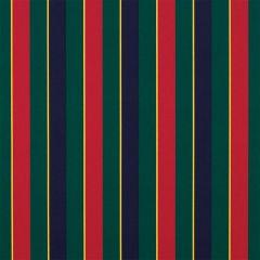 Sunbrella Captain Navy / Green / Yellow / Red Regimental 4901-0000 46-Inch Awning / Marine Fabric