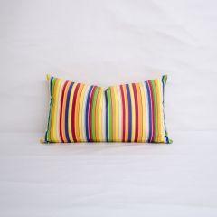Indoor/Outdoor Sunbrella Castanet Beach - 20x12 Vertical Stripes Throw Pillow (quick ship)