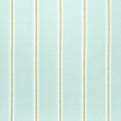 Sunbrella Thibaut Saybrook Stripe Green and Spa W80796 Solstice Collection Upholstery Fabric