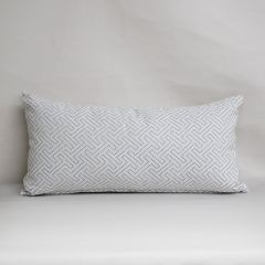 Indoor/Outdoor Sunbrella Crete Cloud - 24x12 Throw Pillow (quick ship)