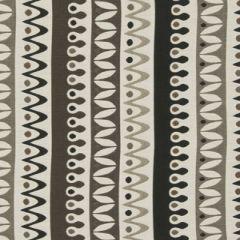 Robert Allen Sunbrella Nordic Stripe Jet 228327 DwellStudio Modern Bungalow Collection Upholstery Fabric