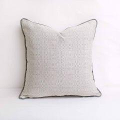 Indoor/Outdoor Sunbrella Linen Silver - 18x18 Throw Pillow (quick ship)