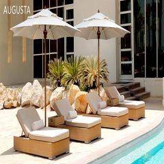 Fiberbuilt 7.5ft Square Augusta Umbrella With Sunbrella Fabric