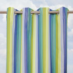 Custom Curtain With STRIPED Sunbrella Fabric Options and Grommets