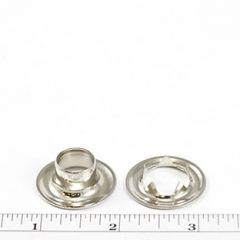 Dot Grommet with Tooth Washer #4 Brass Nickel Plated 1/2 inch 1-gross (144)