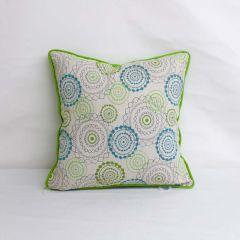 Indoor/Outdoor Sunbrella by Mayer Mandala Opal - 18x18 Throw Pillow with Welt (quick ship)