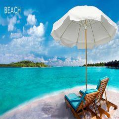 Fiberbuilt 7.5ft Beach Hexagon Umbrella With Sunbrella Fabric
