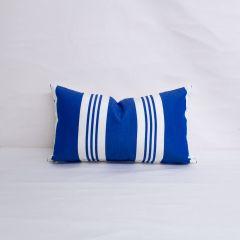 Indoor/Outdoor Ralph Lauren Sunbrella Patio Stripe Sky - 20x12 Vertical Stripes Throw Pillow (quick ship)