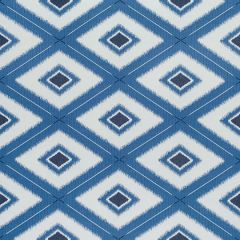 Sunbrella Thibaut Delray Diamond Marine Blue W80581 Oasis Collection Upholstery Fabric