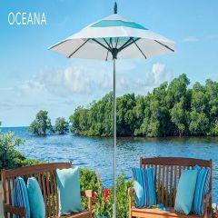 Fiberbuilt 13ft Octagon Oceana Umbrella With Sunbrella Fabric