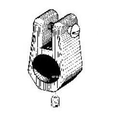Patio Lane Jaw Slide #7418B Nylon 7/8 inch OD Tubing Black
