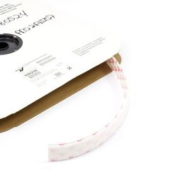 Texacro Velcro Polyester Tape Loop 009 Adhesive Backing 191001/155238 1 inch x 25-yards in White