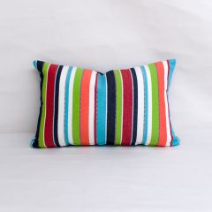 Indoor/Outdoor Sunbrella Carousel Confetti - 20x12 Vertical Stripes Throw Pillow (quick ship)