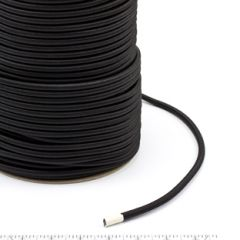 Polypropylene Covered Elastic Cord #M-4 1/4 inches x 300 feet Black