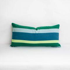 Indoor/Outdoor Sunbrella Gateway Tropic - 24x12 Horizontal Stripes Throw Pillow (quick ship)
