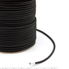 Polypropylene Covered Elastic Cord #M-4 1/4 inches x 500 feet Black