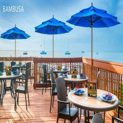 Fiberbuilt 8ft Octagon Bambusa Umbrella With Sunbrella Fabric