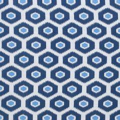Sunbrella Thibaut Geode Ikat Navy W80372 Calypso Collection Upholstery Fabric