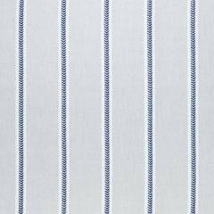 Sunbrella Thibaut Saybrook Stripe Indigo and Sterling W80786 Solstice Collection Upholstery Fabric