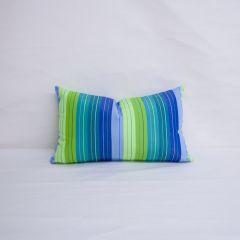 Indoor/Outdoor Sunbrella Seville Seaside - 20x12 Vertical Stripes Throw Pillow (quick ship)
