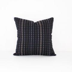 Indoor/Outdoor Sunbrella Esti Onyx - 18x18 Throw Pillow (quick ship)