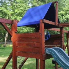 Custom Playset Canopy with Pull-the-DOT Fasteners