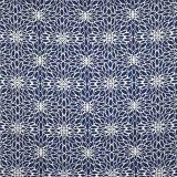 Silver State Sunbrella Penelope Indigo Roman Holidays Collection Upholstery Fabric